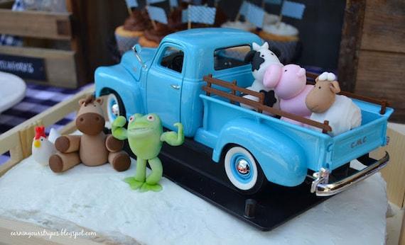 Reserved Little Blue Truck Cake Topper Set Lynetteamoon