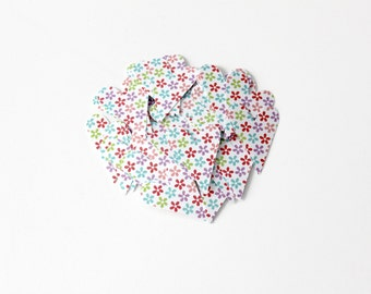Bright Floral Heart Die Cuts - Birthday Party Decor - Colorful Table Decor - Floral Garden