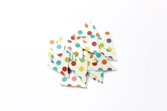Colorful Polka Dot Heart Die Cuts - Birthday Party Decor - Circus Carnival - Bright Fun Table Decor