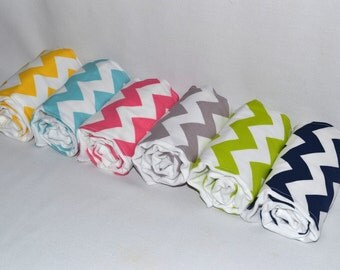 Chevron Burp Cloths - Chevron Burp Cloth Set - You Pick Any 3 Colors