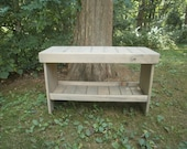 "wooden bench 30"" coffee table/entry bench/bench/hallway bench/bench/entryway bench/recycled/reclaimed"
