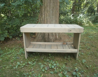 """wooden bench 30"""" coffee table/entry bench/bench/hallway bench/bench/entryway bench/recycled/reclaimed"""