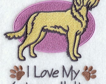 I Love My Spinone Italiano Embroidered Flour Sack Hand/Dish Towel
