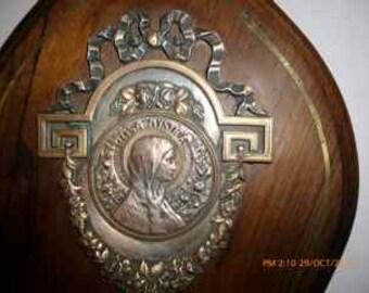 vintage holy madonna ornament