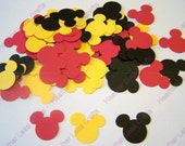 Mickey Mouse Confetti - Mickey Mouse Cut Out -  Red Yellow Black Mickey - Mickey Mouse Party - Mickey Mouse Decorations -