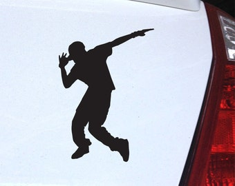 Hip Hop Dance Decal - Breakdancing B boy for Laptop, Car
