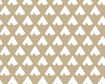Teepee Crib Bumpers - Tan Teepee Crib Bumpers - Crib Bedding - Teepee Crib Bedding