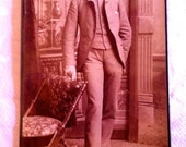 WELL ENDOWED dandy is the only way to describe this gentlemanly vintage victorian photograph
