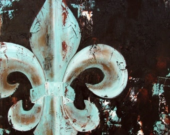 Fleur de Lis original painting on canvas