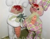 Primitive Raggedy Bunny Doll  ePattern