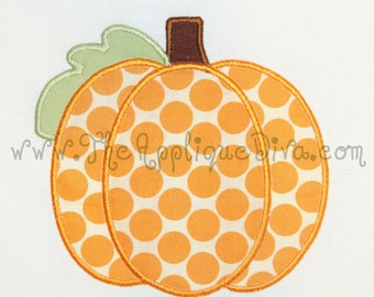 Fall Panel Pumpkin Digital Embroidery Machine Applique