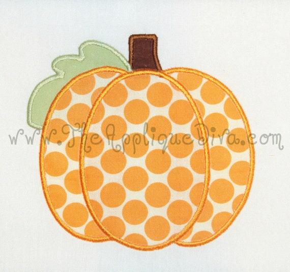 Fall Panel Pumpkin Digital Embroidery Machine Applique