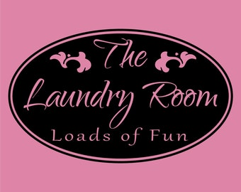 The Laundry Room Loads of Fun Decor vinyl wall decal quote sticker Inspiration