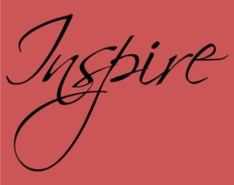 Inspire Decor vinyl wall decal quote sticker Inspiration