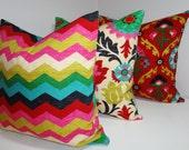 Waverly Trio Santa Maria Desert Flower Panama Wave Medallion Pillow Covers Decorative Pillow 18x18