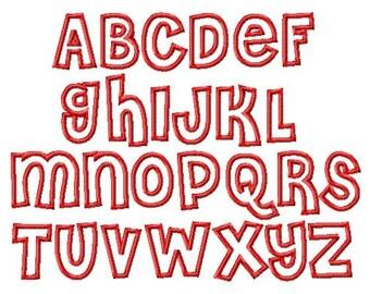 "Go-Team Applique Font Set - Machine Embroidery Design - 2"", 3"" and 4"""