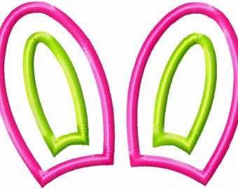Bunny Ears - Applique - Machine Embroidery Design - 11 Sizes