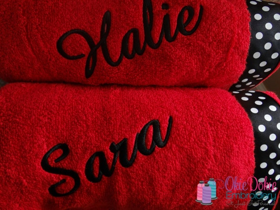 Customized Towel Wraps Embellished with Decorative Ribbon of Your Choice