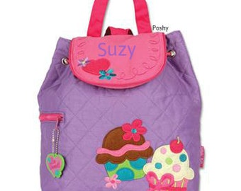 Personalized Backpack or Baby Diaper Bag Stephen Joseph Quilted Cup Cake