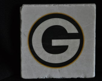Green Bay Packer Coasters Set of 4 handcrafted