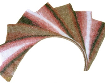 Shades of pink wingspan shawl/Eight triangles/Stole wrap scarf
