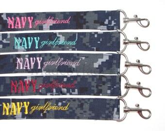 YELLOW Navy Girlfriend Key Lanyard / ID badge lanyard