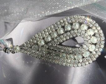 Vintage Rhinestone Bridal Hair Comb, Rhinestone Wedding Bridal Comb, Vintage Wedding Hair Accessories, Crystal Haircomb