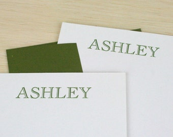 Custom Personalized Letterpress Notecards/Stationery - Set of 20 - Cochin Open