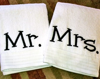 Mr and mrs beach towel etsy for Mr and mrs spa