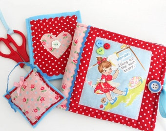 SALE  Retro inspired Sewing Kit