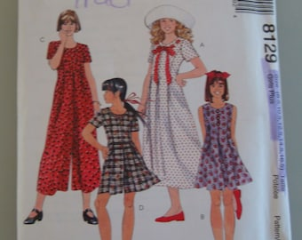 OOP McCall's Sewing Pattern 8129 size Child   8.5-16.5 Uncut