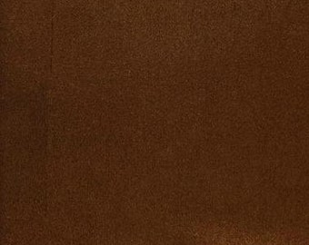 """60"""" Wide Rust Polyester micro faux suede upholstery fabric by the yard"""