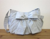 Custom Listing for Jodie Foreman-  Large Shabby Chic bow shoulder  bag/diaper bag/Women/Accessories/Bags and purses