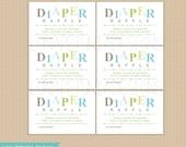 Diaper Raffle Tickets . Instant Download