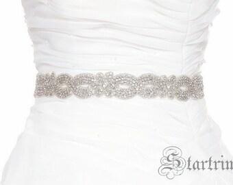 SALE WINNY Crystal wedding bridal beaded sash , belt