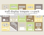 Wall Display Template 15-Pack