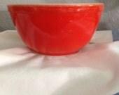 Vintage Red Pyrex Bowl