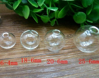 5pcs 25mm Clear Glass Transparent Clear Oblate Cover Ball