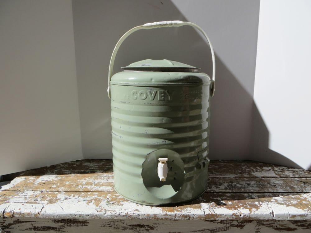 Vinage Covey Cooler Metal Cooler Water Cooler Mint Green Green
