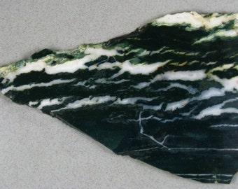 Green n White Tree Agate Slab RS0132