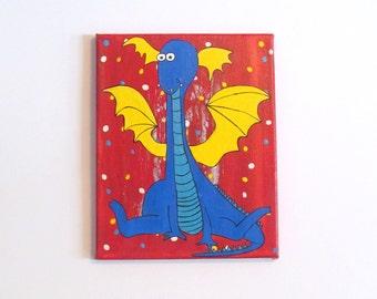 Childrens Wall Art, Canvas Art, Kids Canvas Art, Dragon Canvas, Dragon Decor, Kids Room Art, Kids Canvas Wall Art