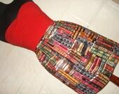 Book Lovers Mini Skirt - Library Book Print Skirt - Geek Clothing -  Literary High Waisted Ladies Skirt - Handmade to Order