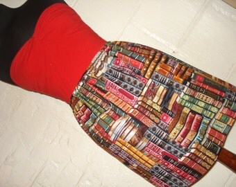 Book Lovers Mini Skirt - Library Book Print Skirt - Geek Clothing -  Literary High Waisted Ladies Skirt - Handmade to Order