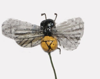 12 pc Craft Bees for Costumes, Decorating, Floral Arrangements, Halloween Decoration (Tim)