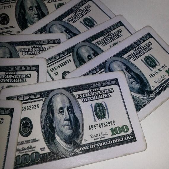 8 Old Playing Cards Benjamin Franklin Money 100 Dollar