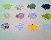 50 Hand Punched PIG you choose Die cuts  1 inch for Confetti, Birthday party decorations,Invitations,scrapbooking,