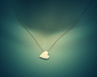 Yellow Gold Heart pendant, 14k or 9k , Valentines day, Heart Necklace