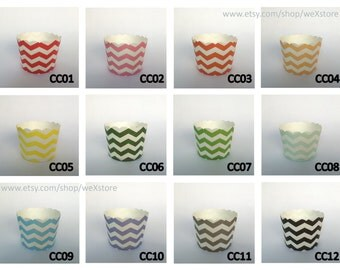 SaLEs - 20 BAKING CUP, 20 Pick Your Color Cupcake Liners (24 Designs for choosing) with free printable DIY Toppers, Baking Cup Wedding Favor