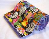 Black Los Novios Violet Dot Minky Blanket