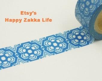 Blue and White Porcelain - Japanese Washi Masking Tape - 20mm Wide - 11 Yards